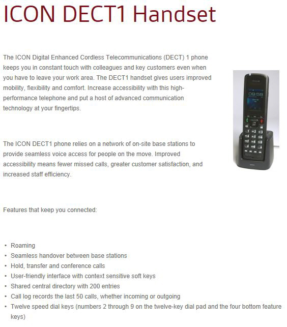 DECT1 Replacement fo rthe OMEGATREK Wireless